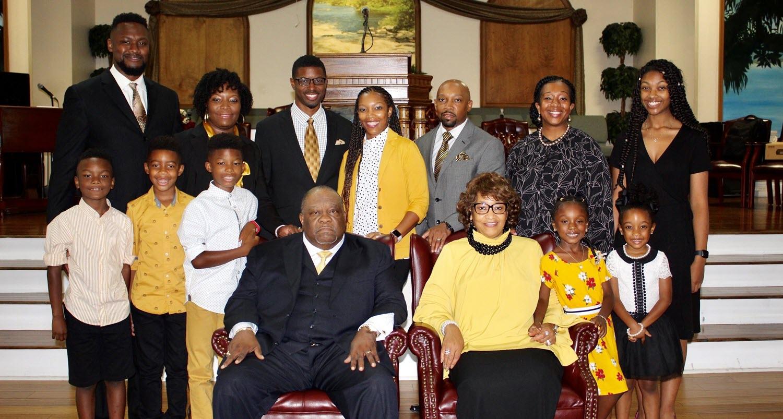 Bishop Paden's family